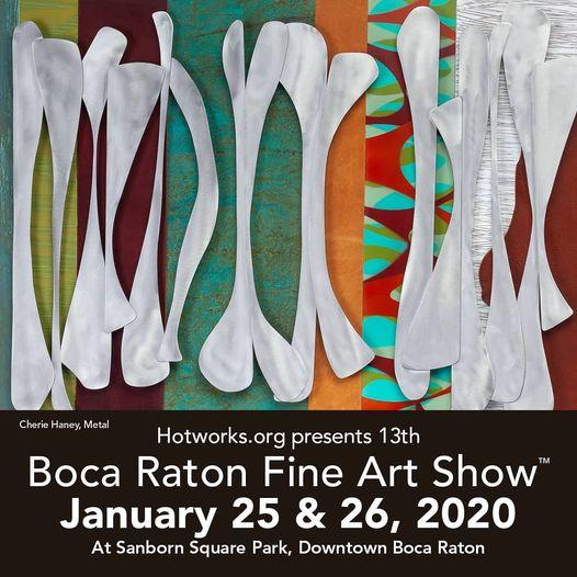 Bocat Raton Fine Art Show, January 25 and 26, 2020.